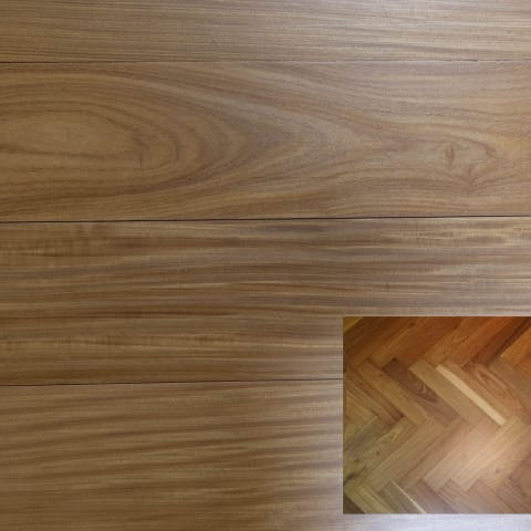 Afrormosia Prime 500mm Parquet Block - Herringbone