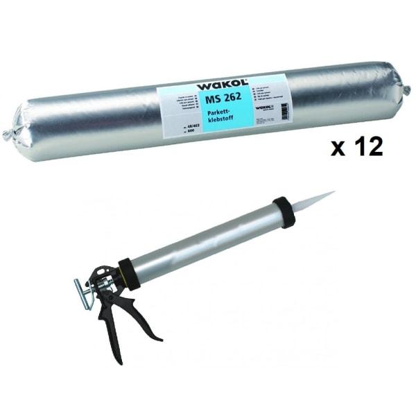 Wakol MS262 1 Component  Adhesive Sausage 600cc 12-Pack + Bulk Gun