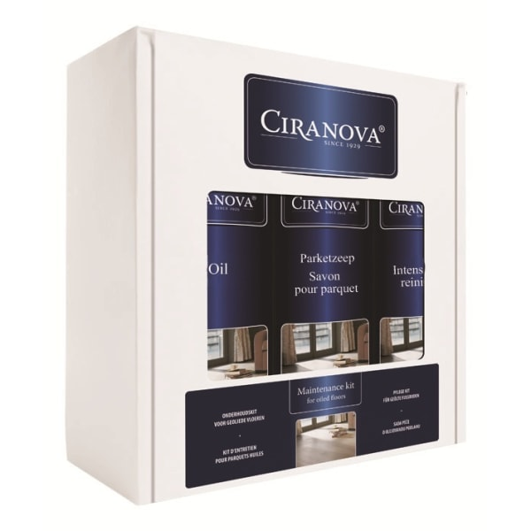 Ciranova Clear Oiled Satin Wood Floor Maintenance Kit