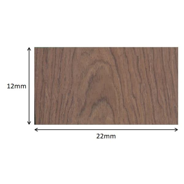 Wenge 10mm Parquet Insert Strip