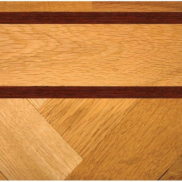Double Mahogany & Oak Parquet Solid 43mm Inset Strip