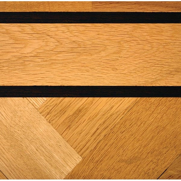 Double Wenge & Oak Parquet Solid 43mm Inset Strip