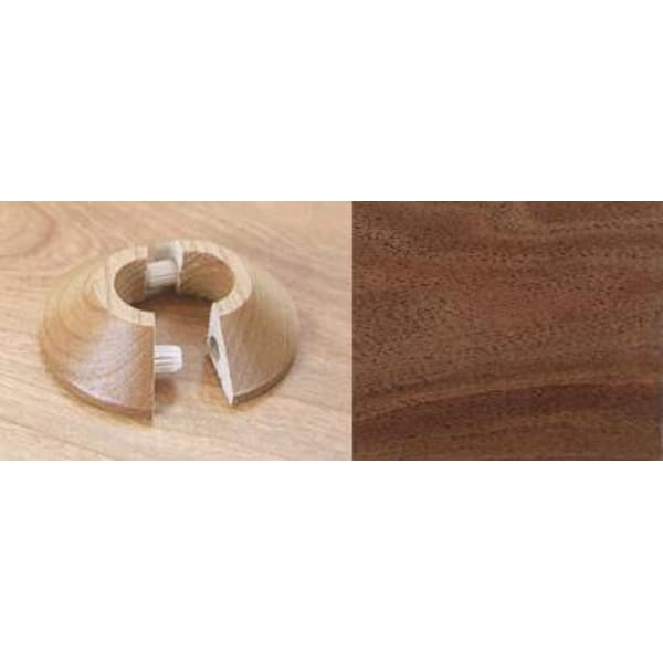 Walnut Solid Wood Pipe Rose Pack of 1