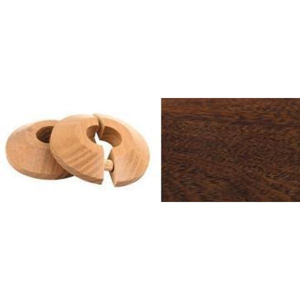 Merbau Solid Wood Pipe Rose Pack of 2