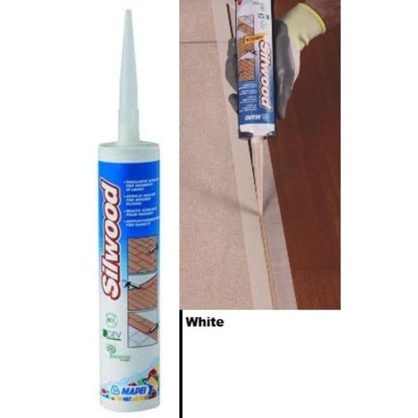 Mapei Silwood Cartridge White Wood Flooring Sealant - 310ml