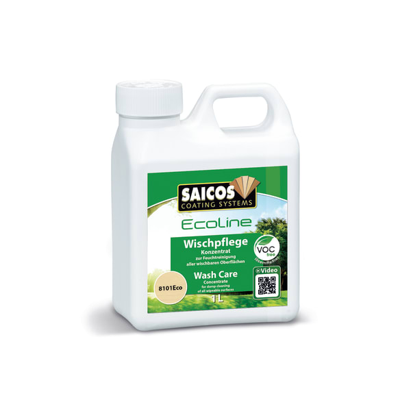 Saicos Ecoline Wooden Flooring Wash Care 1L 8101 Concentrate