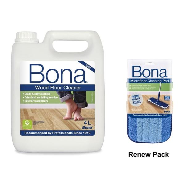 Bona Wood Floor Spray Mop Renew Pack