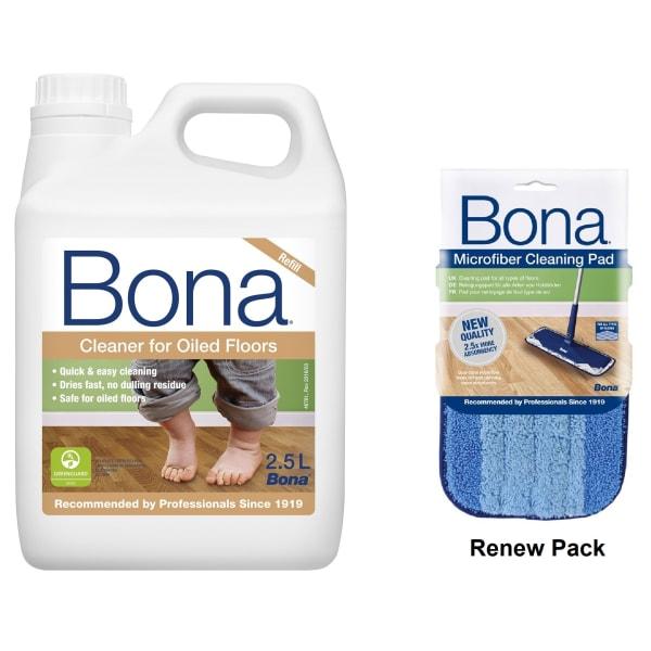 Bona Oiled Floor Spray Mop Renew Pack