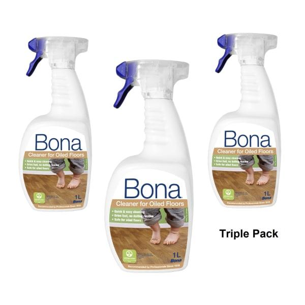 Bona Oiled Floor Cleaning Spray TRIPLE PACK