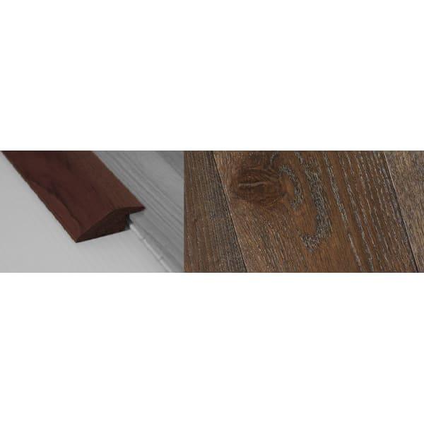 Dark Grey Stained Ramp Bar Flooring Profile 15mm Rebate Soild Hardwood 2.7m