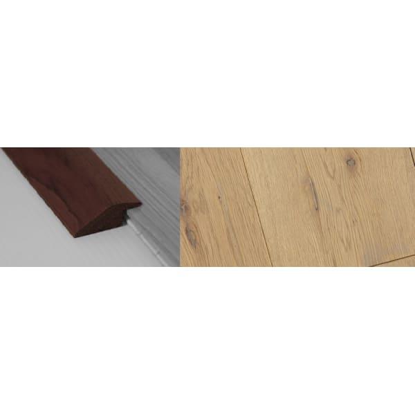 Grey Wash Stained Solid Oak Ramp Bar Flooring Profile 15mm Rebate 2.7m