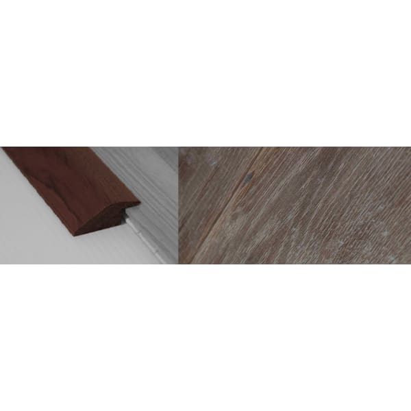 Fired Brick Stained Solid Oak Ramp Bar Flooring Profile 15mm Rebate 2.7m
