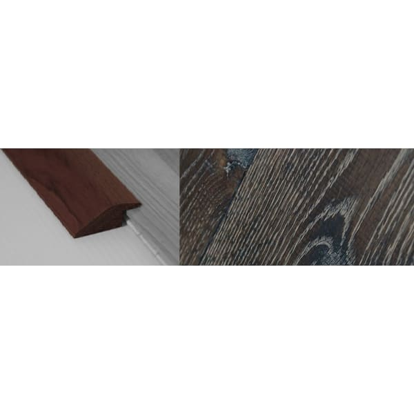 Foundry Stained Solid Oak Ramp Bar Flooring Profile 15mm Rebate 2.7m