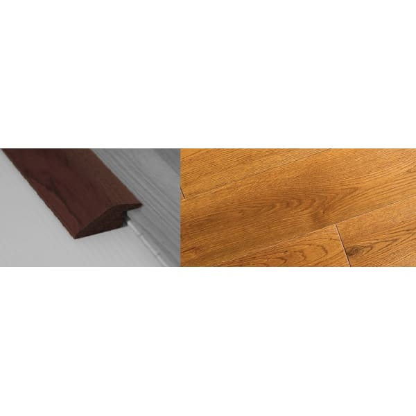 Golden Rustic Stained Solid Oak Ramp Bar Flooring Profile 18mm Rebate 2.7m