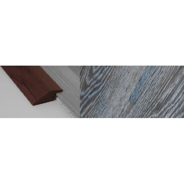 Grey Wharf Stained Solid Oak Ramp Bar Flooring Profile 15mm Rebate 2.7m