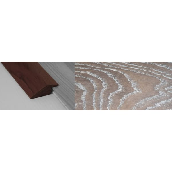 Nordic Beach Stained Solid Oak Ramp Bar Flooring Profile 15mm Rebate 2.7m