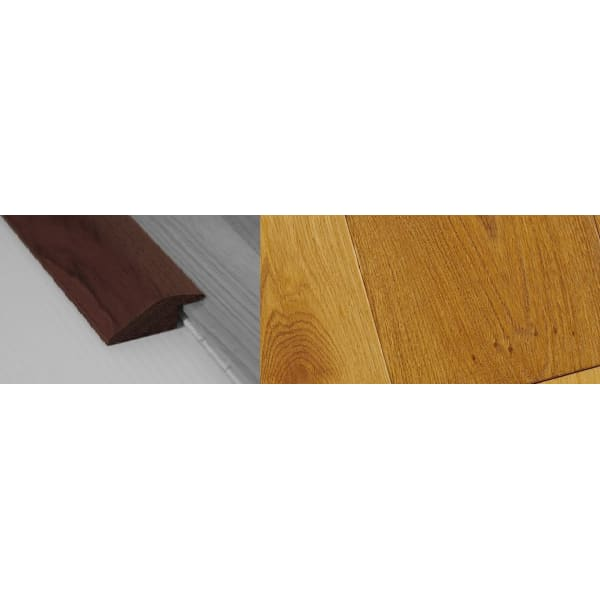 Smoked Distressed Stained Solid Oak Ramp Bar Flooring Profile 15mm Rebate 2.7m