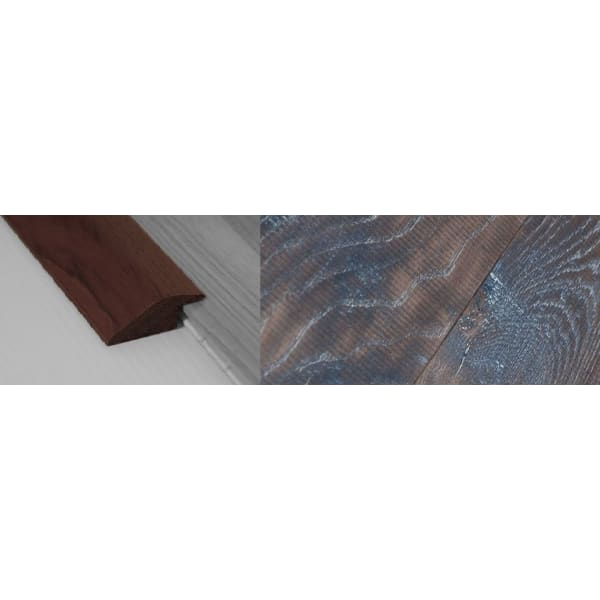 Tannery Brown Stained Solid Oak Ramp Bar Flooring Profile 15mm Rebate 2.7m