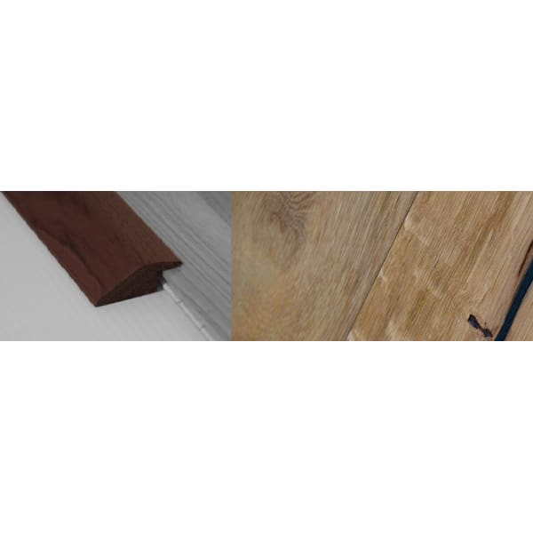Weathered Oak Beam Stained Solid Oak Ramp Bar Flooring Profile 15mm Rebate 2.7m