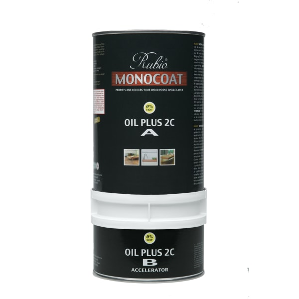 Rubio Monocoat Wood Flooring Oil Plus 2C Set A & B STONE 1.3L