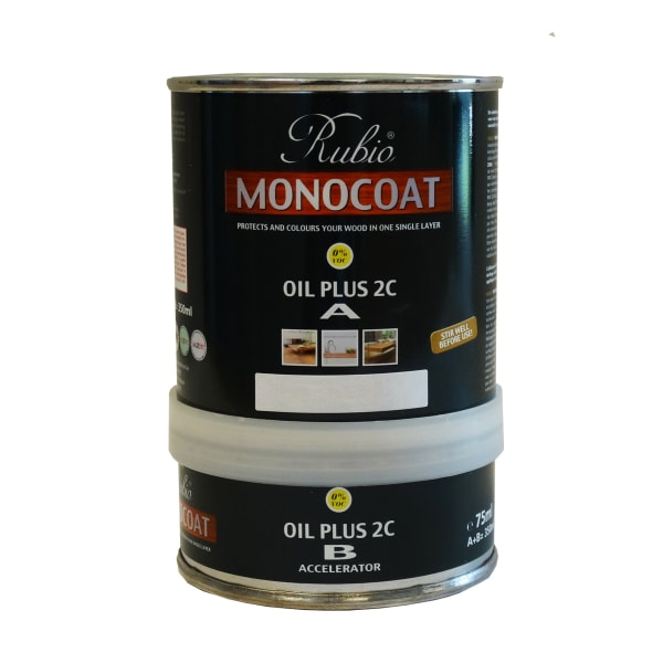 Rubio Monocoat Wood Flooring Oil Plus 2C Set A & B VANILLA 350ml