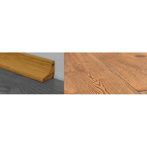 Burnt Umber Brown Stained Solid Oak Scotia 2.7m for Flooring