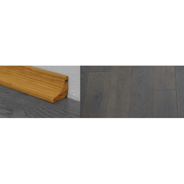 Grey Stained  Solid Hardwood Oak Scotia 2.7m for Flooring