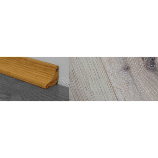 Limehouse White Stained Solid Hardwood Oak Scotia 2.7m for Flooring