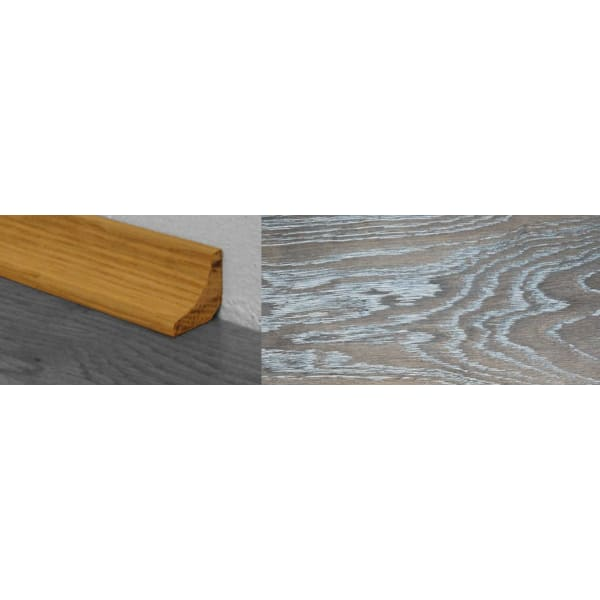 Silver Haze Stained Solid Hardwood Oak Scotia 2.7m for Flooring