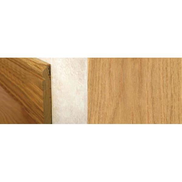 Natural Oak Torus Solid Hardwood Skirting 2.4m for Flooring