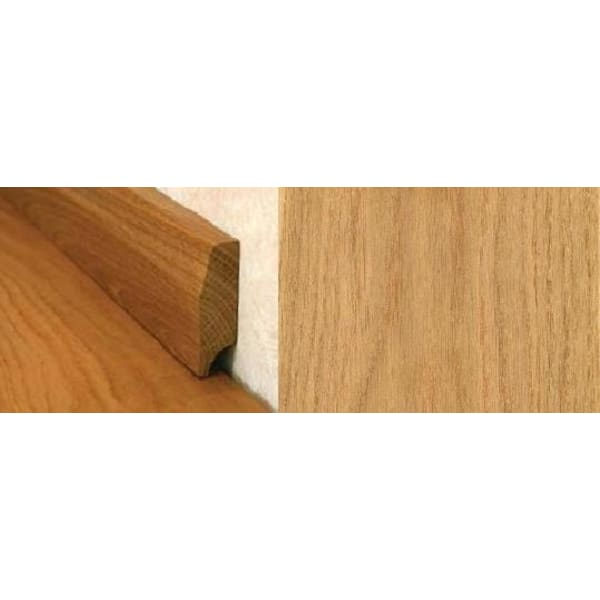 Natural Oak Pencil Round Solid Hardwood Skirting 2.4m for Flooring