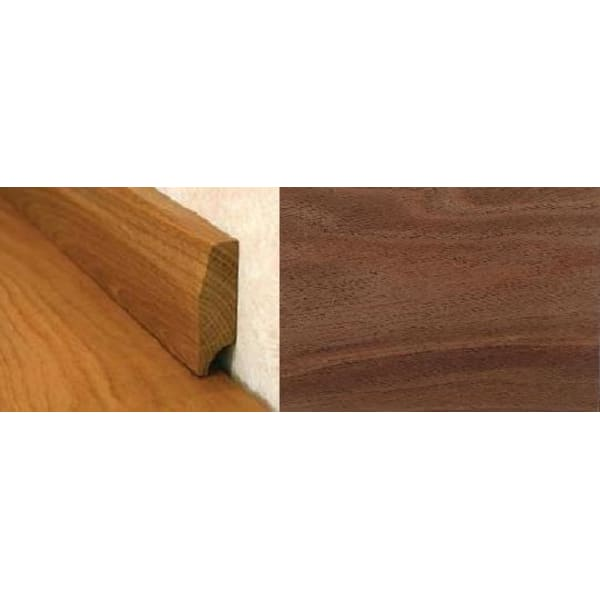 Walnut Pencil Round Solid Hardwood Skirting 1.0m for Flooring