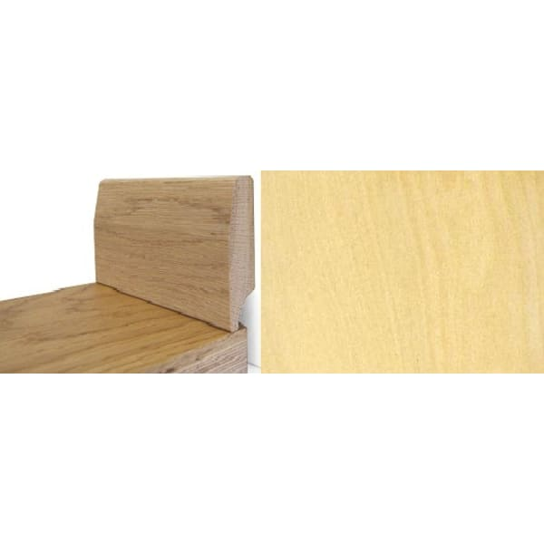 Solid Maple Round 65mm - Wire Recess Skirting 2.4m for Flooring