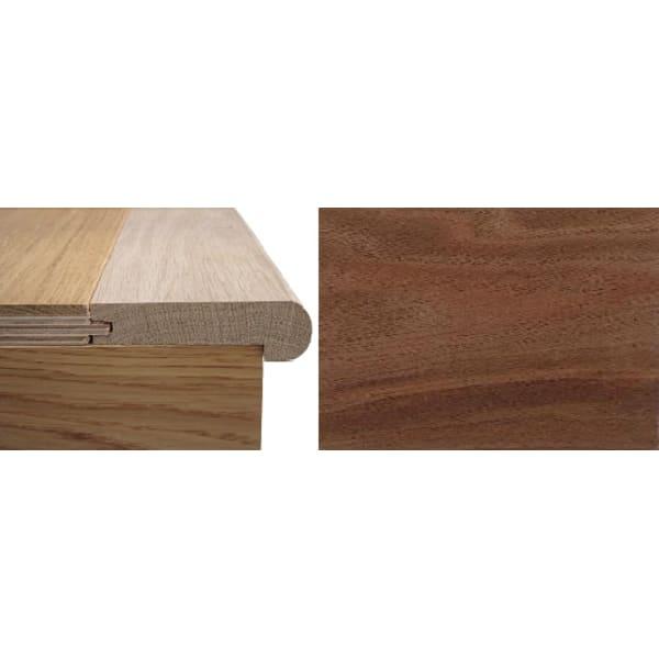 Solid Walnut Stair Nosing Profile Soild Hardwood 20mm 0.9m