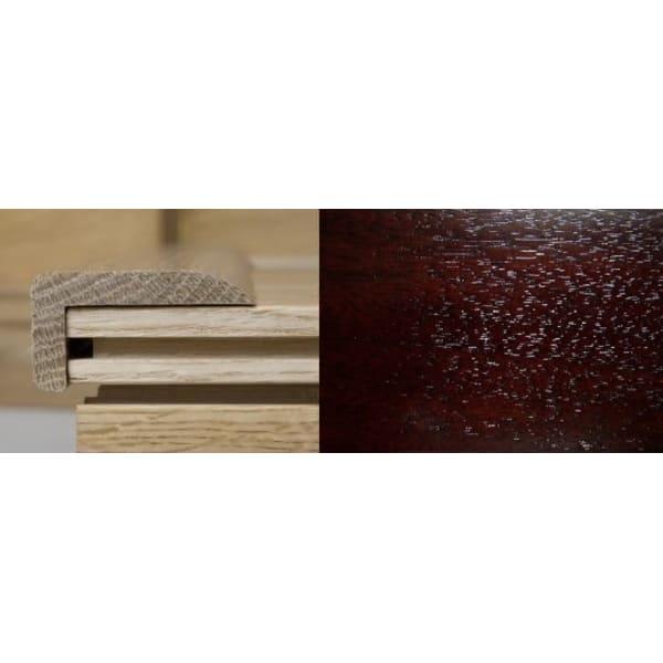 Dark Walnut Stair Nose Profile Soild Hardwood 2.4m