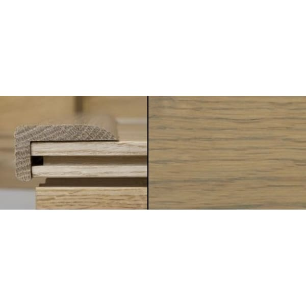 Grey Oak Stair Nose Profile Soild Hardwood 1m