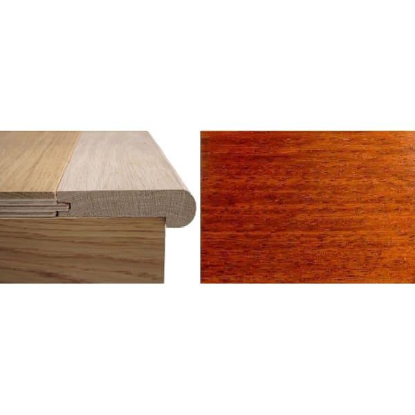 Solid Merbau Stair Nosing Profile Soild Hardwood 12mm 2.4m