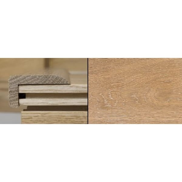 White Wash Stained Stair Nose Profile Solid Hardwood 1m
