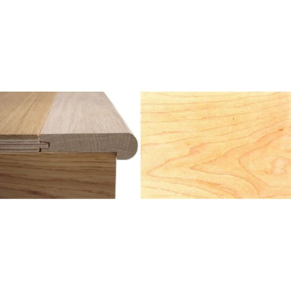 Solid Maple Stair Nosing Profile Soild Hardwood 12mm 2.4m