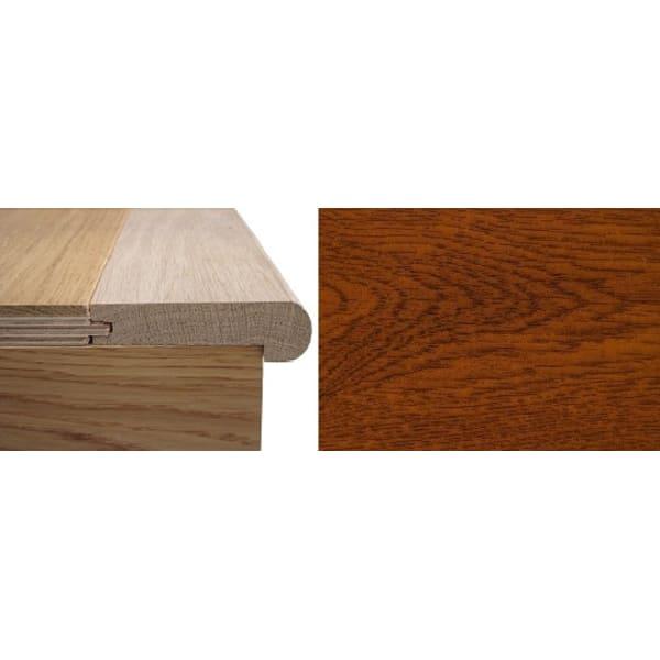 Solid Smoked Oak Stair Nosing Profile Soild Hardwood 12mm 2.4m