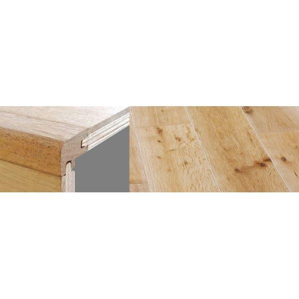 White Wash Stained 15mm Oak Stair Nosing Profile Soild Hardwood 2.7m