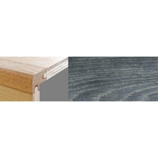 Midnight Mist Stained 15mm Oak Stair Nosing Profile Soild Hardwood 2.7m