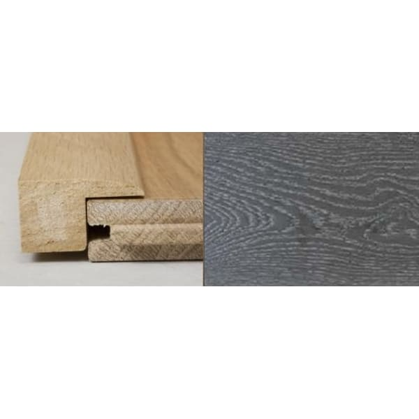 Silver Grey Stained Square Edge Solid Hardwood Flooring Profile 1m