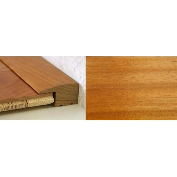 Iroko Square Edge Soild Hardwood Flooring Profile Solid Wood 15mm 2.44m