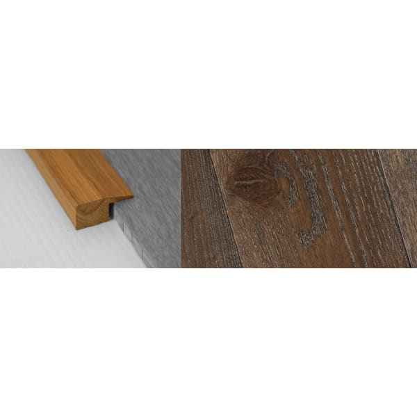 Dark Grey Stained Solid Oak Square Edge Flooring Profile 15mm 2.7m