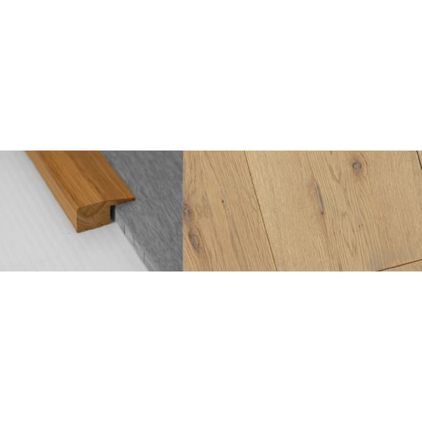 Grey Wash Stained Solid Oak Square Edge Flooring Profile 15mm 2.7m