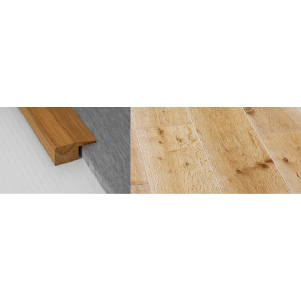 White Wash Stained Solid Oak Square Edge Flooring Profile 15mm 2.7m