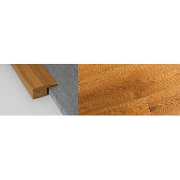 Golden Rustic Stained Solid Oak Square Edge Flooring Profile 18mm 2.7m