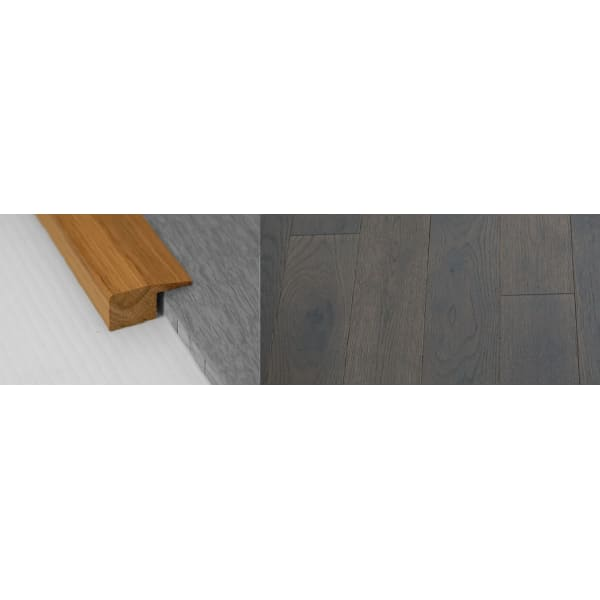 Grey Stained Solid Oak Square Edge Flooring Profile 18mm 2.7m