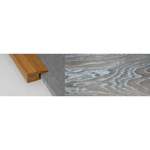 Silver Haze Stained Solid Oak Square Edge Flooring Profile 15mm 2.7m